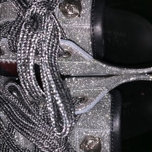 GUCCI Glitter Web sneaker with studs